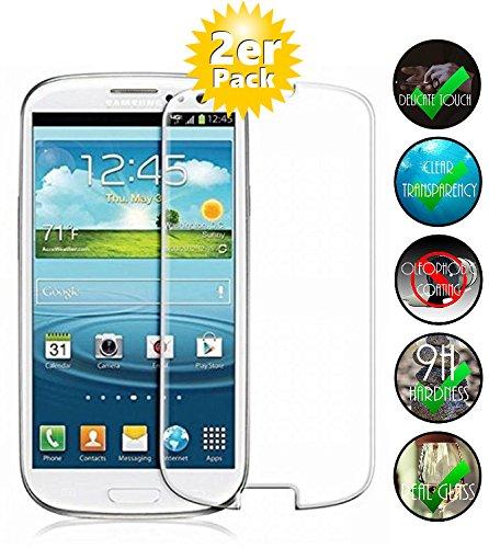 Smartphone Equipment [2er Pack] Panzerglas für Samsung Galaxy S3 Mini gehärtetes Glas 9H, Echtglas Glasfolie Glas Folie Schutzfolie Panzerfolie Bildschirmschutz