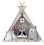 Izabell Kinder Spielzelt Teepee Tipi Set für Kinder drinnen draußen Spielzeug Zelt Indianer Indianertipi mit Fenster Tipi mit und ohne Zubehör Tipizelt
