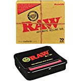 Reds Global Brand Exclusive Tips Pack and RAW Automatic Rolling Box - Regular Size (70mm)