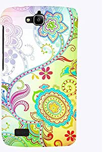 PRINTVISA Pattern Abstract Floral Case Cover for Huawei Honor Holly