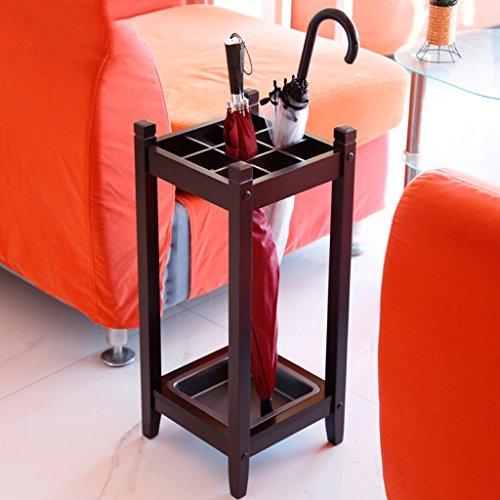Holz Lange/kurze Umbrella Stand Öffentliche Lobby Hotel Home Umbrella Rack (Zinn-holz-halter)