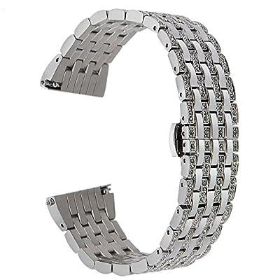 trumirr 22mm Correa de reloj de acero inoxidable para Samsung Gear 2R380R381R382, Gear S3Classic Frontier, Moto 360246mm, Asus Zenwatch 12hombres, Pebble Time, LG Urbane W150