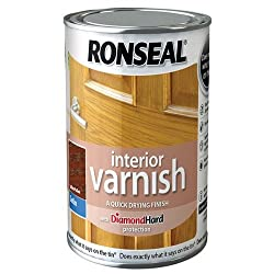 Ronseal 750ml Quick Dry Satin Interior Varnish - Dark Oak