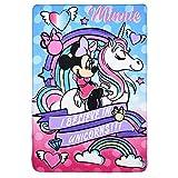 Suncity Plaid en Enfant Polaire Minnie et Licorne Disney 100x150cm
