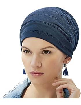 Turbante hippie chic azul Clara en algodón