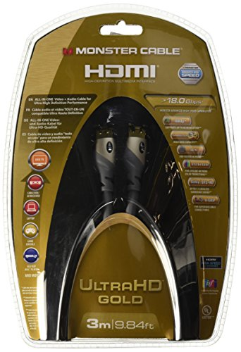 Monster GOLD Advanced High Speed HDMI-Kabel (18 Gbps, V-Grip) 3m Monster Hdmi-adapter
