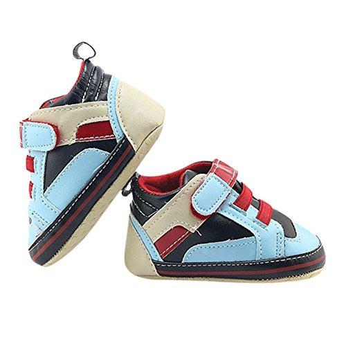 Hankyky Baby Kind Mädchen Junge Anti Skid Weiche Sohle Lauflernschuhe Sneaker Krippeschuhe Kleinkind Schuhe Leder (0 ~ 18 Monate) A