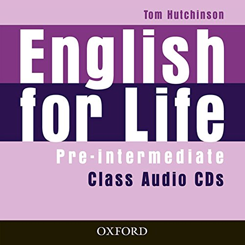 English for Life Pre-Intermediate. Class Audio CD