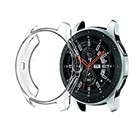 TREETOP Compatible with Samsung Galaxy Watch 46mm Case Screen Protector,Soft Slim Full-Around Protective Case Cover Shell for Samsung Galaxy Watch 46mm (Clear)