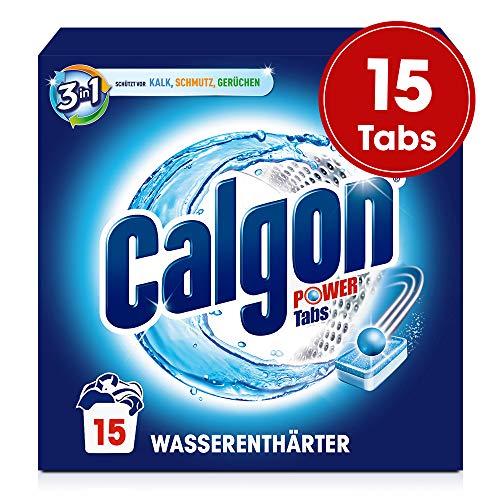 Calgon 2in1 Tabs, Wasserenthärter gegen Kalk & Schmutz in der Waschmaschine, 1er Pack (1 x 15 Tabs)