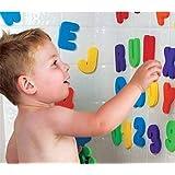 [Patrocinado]personalizedco 36 Pcs Aprende letras y números palo flotante espuma baño agua juguete del bebé