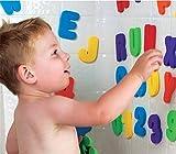 personalizedco 36 Pcs Aprende letras y números palo flotante espuma baño agua juguete del bebé
