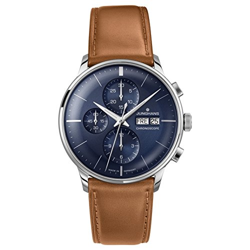 Junghans 027-4526-01 Meister Driver Cognac Brown Chronoscope Automatic Watch