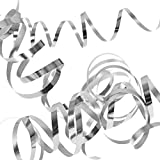NET TOYS 3 Set Luftschlangen Sparpack Papierschlangen Silber metallic Party Streamers Silvester Deko