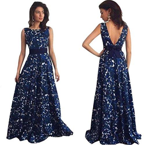 Lucky mall Frauen Floral Lange Formale Abendkleid, Party Ballkleid Abend Hochzeitskleid