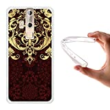 ZTE Axon Elite Hülle, WoowCase Handyhülle Silikon für [ ZTE Axon Elite ] Luxus Barockmuster Handytasche Handy Cover Case Schutzhülle Flexible TPU - Transparent