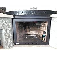 Puerta para chimenea con cristal vitrocerámico y regulador de entrada de aire ¡¡¡ Sin Obras !!!, Varios tamaños.