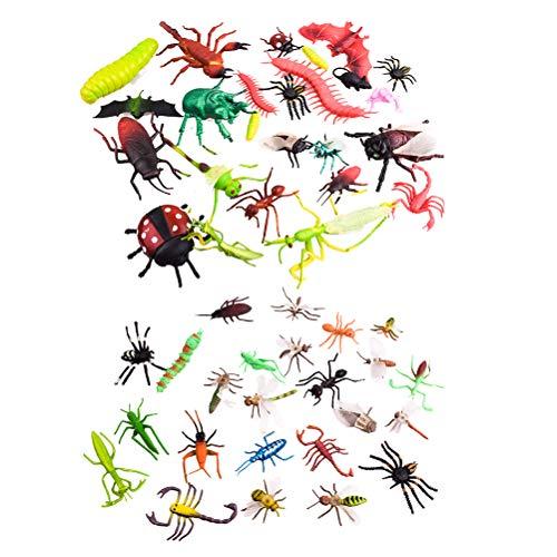 TOYANDONA 27 stücke Kunststoff Insekten Figur Spielzeug für Kinder Bildung Halloween Party (Den Für Halloween-spiele Unterricht)