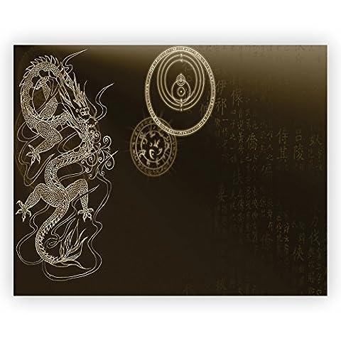Black Dragon China Acrylglas Wand Kunst -70cm x 56cm