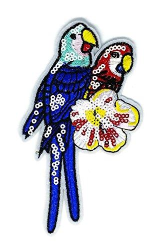 Schöne Papagei Vogel Wild Life Cartoon bestickt Nähen Eisen auf Patch Cartoon Nähen Eisen auf bestickte Applikation Craft handgefertigt Baby Kid Girl Frauen Tücher DIY Kostüm Zubehör (Vogel Kostüm Design)