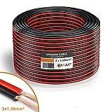 MANAX® Lautsprecherkabel 2 x 1,5mm² rot/schwarz 50,0 m Ring