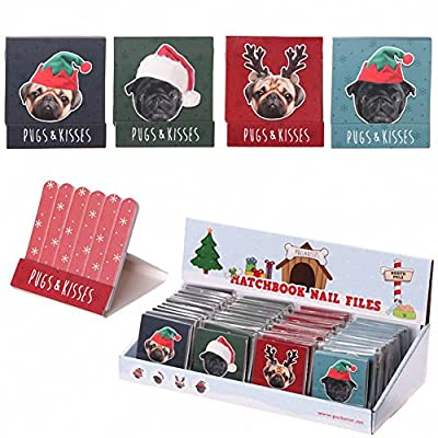 Funky Xmas Pug Matchbook Nail File