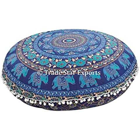 Grande rotondo decorativo cuscino da pavimento, Mandala