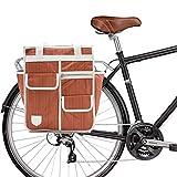 Goodordering Einkaufstasche Markt Shopper Fahrradtasche für Radfahren, Orange