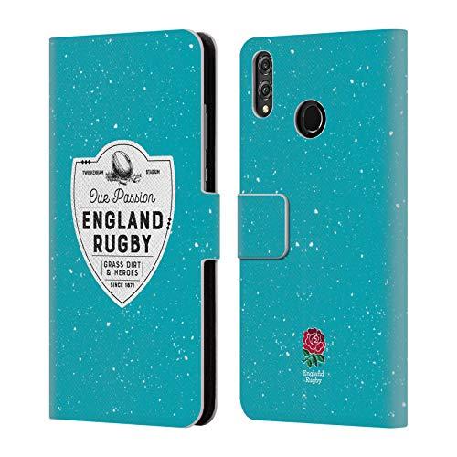 Head Case Designs Offizielle England Rugby Union Grass Dirt and Heroes 2017/18 Erbschaft Brieftasche Handyhülle aus Leder für Huawei Honor 8X / View 10 Lite