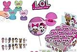 LOL Surprise! - Caramelle con adesivi all'interno di un giocattolo a forma di Chupa - Confezione da 12 pezzi
