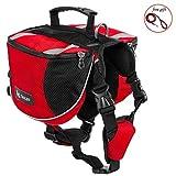 AWIS Pet Dog Sattel Tasche mit Gratis Geschenk,für Kleine Mittelgroße Hunde,5PCS,Red,L