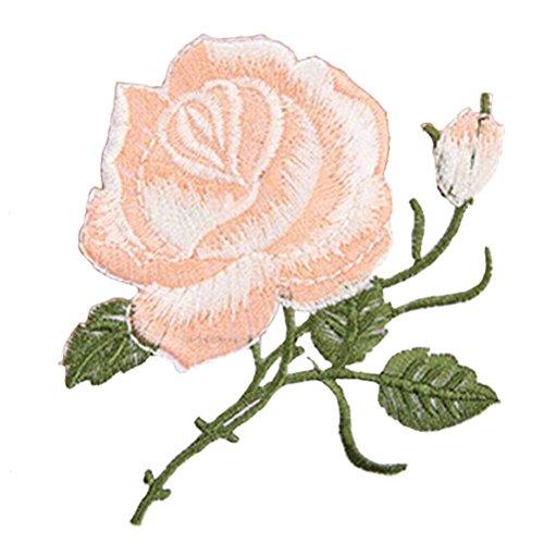 sevenmye 1 Stück Rose Blume Stickerei Eisen auf Aufnäher Patch für Taschen Jacken Trim nude ... -