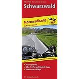 Schwarzwald: Motorradkarte mit Ausflugszielen, Einkehr- & Freizeittipps und Tourenvorschlägen, wetterfest, reißfest, abwischbar, GPS-genau. 1:200000