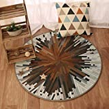 CTO Wtl Carpet Simple Living Room mit Korb mit Teppichmatten Runden Schlafzimmer Runden Teppich mit Couchtisch,150 * 150CM