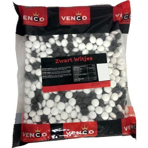 Venco Holland Lakritze 'Zwartwitjes' 1kg Packung (Mint & Salmiak-Drops)