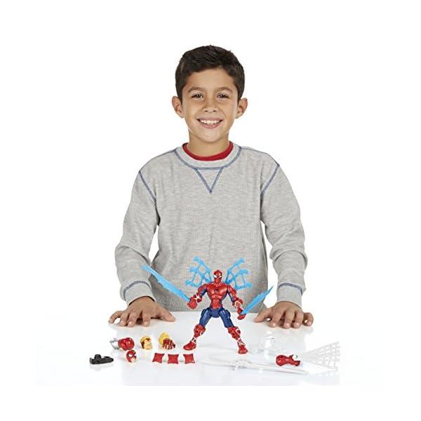 Marvel - Superhéroe mashers - Ataque de Spider-Man - Rayo Miniatura Ensamble Accesorios 3