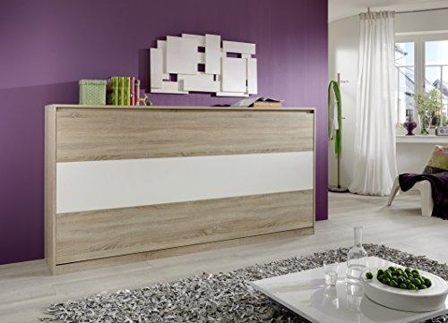 Querbett TIMON Schrankbett Foldaway Bed Horizontal 90x200cm in der Farbe Eiche Sonoma (ohne Matratze) - 3