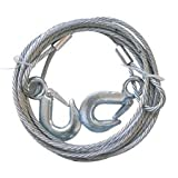 #6: Woogor Car Auto Full Steel Towing Tow Cable Rope 3000kgs 6mm Heavy Duty.