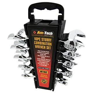Am-Tech Stubby Combi Spanner Set (10 Pieces)