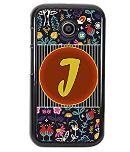 PrintVisa Metal Printed Alphabet Designer Back Case Cover for Motorola Moto E/ E Dual sim -D4793