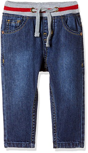 Donuts Baby Boys' Straight Regular Fit Cotton Jeans (272235145 BLUE 12M)