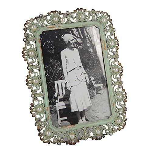 Vintage Metal Pearl 4por 6pulgadas marco fotos