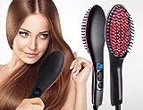 VDNSI Fast Hot Hair Straightener Comb Brush Lcd Screen Flat Iron Styling