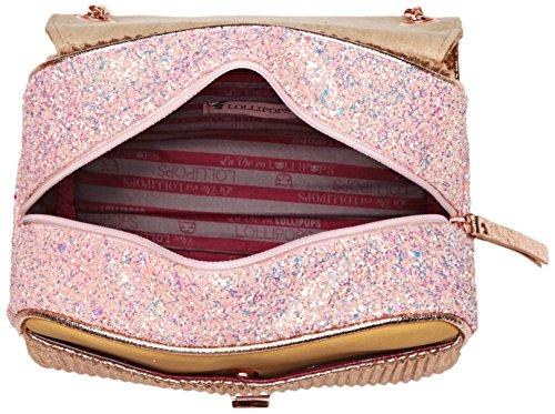 Lollipops Damen Alix Glitter Chain Side Schultertasche, 16x12x33 cm Elfenbein (Nude)