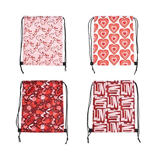 Geschenk Taschen Kordelzug Rucksäcke Bedruckte Taschen für die Hochzeitsparty Valentinstag bevorzugt Lieferungen ()