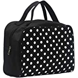 Hatop Portable Entrancing Multifunction Travel Cosmetic Bag Makeup Toiletry Case Pouch (Black)