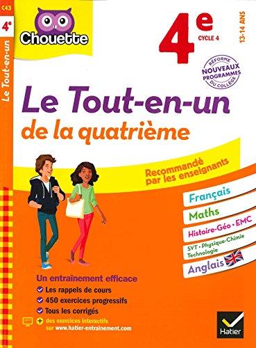 Chouette Le Tout-en-un 4e : nouveau programme (Chouette Entranement Collge)