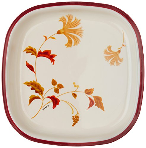 Nayasa Dlx M.F. Square Quarter Plate Set, Set of 6, Brown
