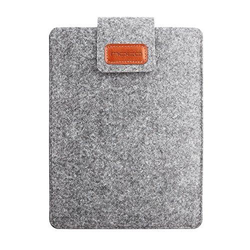 "MoKo Universal 7Zoll Felt Sleeve Hülle - Tragbare Filz Schutzhülle Tasche für iPad Mini 4/3/2/1, Samsung Galaxy Tab S2 8,0, Registerkarte A 8,0, NeuTab 7 "", Dragon Touch Y88X Plus 7"" - Hellgrau"