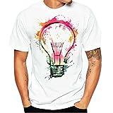 ZARLLE Camisa Hombre, Camisetas De ImpresióN De Tallas Grandes Verano Camiseta De Manga Corta...